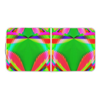 Colorful Abstract Butterfly with Flower Beer Pong Table