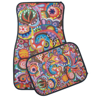 Colorful Abstract Car Mats - Full Set of 4 Mats
