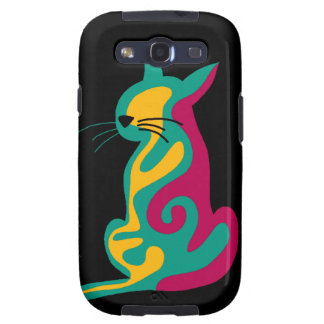 Colorful abstract cat galaxy SIII cover