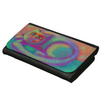 Colorful Abstract Cat Wallet