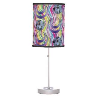 colorful abstract circles blue decorative lamp