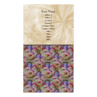 Colorful Abstract Collage Bubble Pattern Business Card Templates
