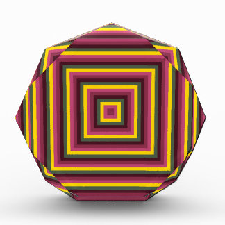 Colorful Abstract Concentric Square  Pattern
