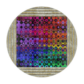 Colorful Abstract Cutting Board