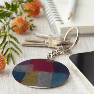 Colorful Abstract Design Keychain