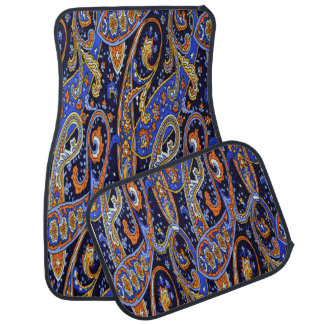 Colorful Abstract Design Set of 4 Car Mats
