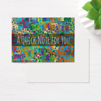 Colorful Abstract Digital Modern Art Notes Business Card