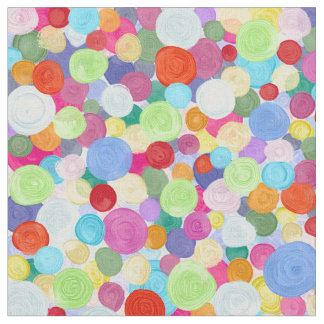 Colorful abstract dots fabric