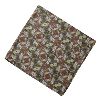 Colorful Abstract Doves Pattern Bandana