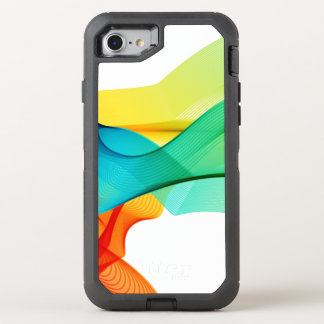 Colorful Abstract Dynamic Wavy Lines OtterBox Defender iPhone 7 Case