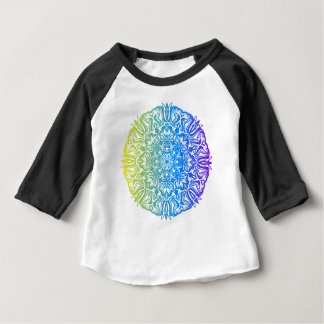 Colorful abstract ethnic floral mandala design baby T-Shirt