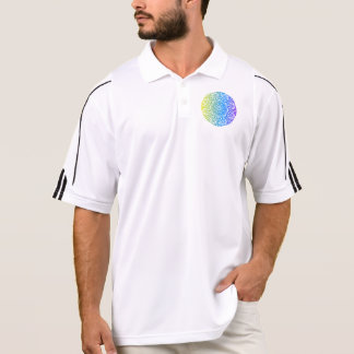 Colorful abstract ethnic floral mandala design polo shirt