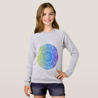 Colorful abstract ethnic floral mandala design sweatshirt