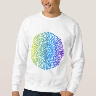 Colorful abstract ethnic floral mandala design sweatshirt
