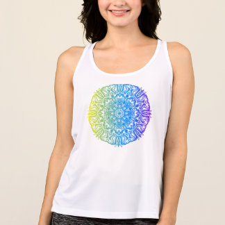 Colorful abstract ethnic floral mandala design tank top
