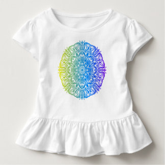 Colorful abstract ethnic floral mandala design toddler t-shirt