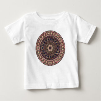 Colorful abstract ethnic floral mandala pattern baby T-Shirt