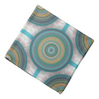 Colorful abstract ethnic floral mandala pattern bandana