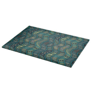 Colorful abstract ethnic floral mandala pattern boards