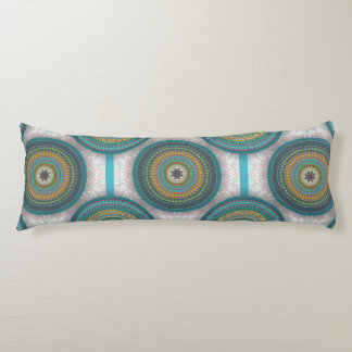 Colorful abstract ethnic floral mandala pattern body pillow