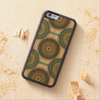 Colorful abstract ethnic floral mandala pattern carved cherry iPhone 6 bumper case