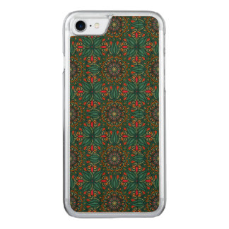 Colorful abstract ethnic floral mandala pattern carved iPhone 8/7 case