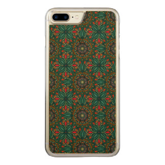 Colorful abstract ethnic floral mandala pattern carved iPhone 8 plus/7 plus case