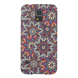 Colorful abstract ethnic floral mandala pattern case for galaxy s5