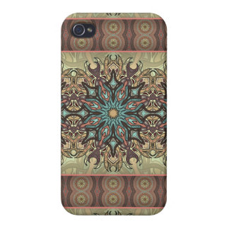 Colorful abstract ethnic floral mandala pattern case for iPhone 4
