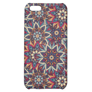 Colorful abstract ethnic floral mandala pattern case for iPhone 5C