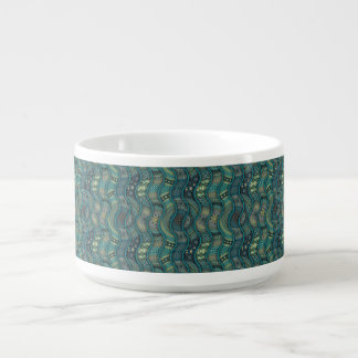 Colorful abstract ethnic floral mandala pattern chili bowl