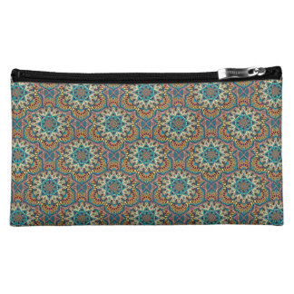 Colorful abstract ethnic floral mandala pattern cosmetic bag