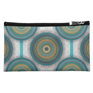 Colorful abstract ethnic floral mandala pattern cosmetic bags