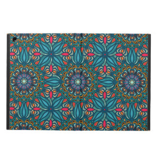 Colorful abstract ethnic floral mandala pattern cover for iPad air