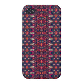 Colorful abstract ethnic floral mandala pattern cover for iPhone 4