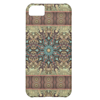Colorful abstract ethnic floral mandala pattern cover for iPhone 5C