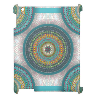 Colorful abstract ethnic floral mandala pattern cover for the iPad 2 3 4