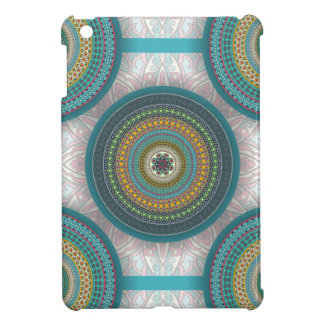 Colorful abstract ethnic floral mandala pattern cover for the iPad mini