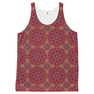 Colorful abstract ethnic floral mandala pattern de All-Over-Print tank top