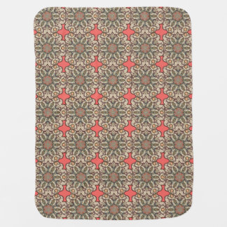 Colorful abstract ethnic floral mandala pattern de baby blanket