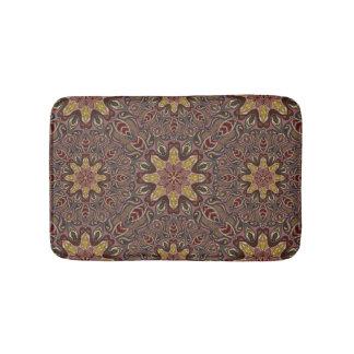 Colorful abstract ethnic floral mandala pattern de bath mat