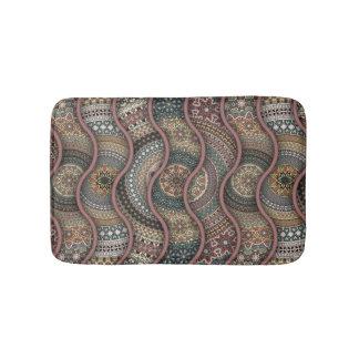 Colorful abstract ethnic floral mandala pattern de bathroom mat