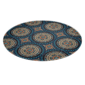 Colorful abstract ethnic floral mandala pattern de boards