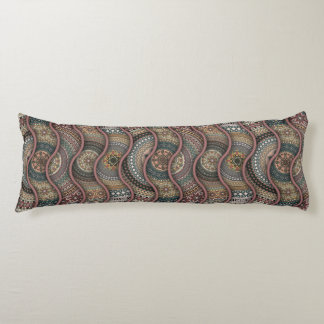 Colorful abstract ethnic floral mandala pattern de body pillow