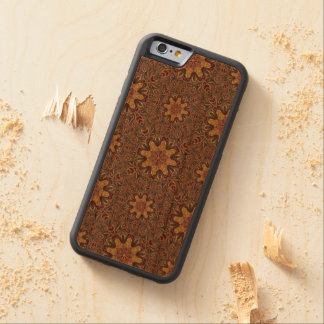 Colorful abstract ethnic floral mandala pattern de carved cherry iPhone 6 bumper case