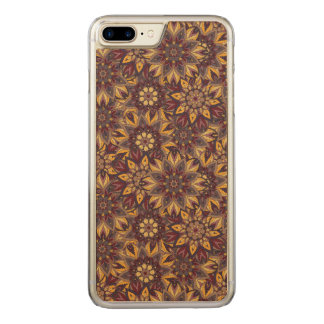 Colorful abstract ethnic floral mandala pattern de carved iPhone 7 plus case