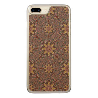 Colorful abstract ethnic floral mandala pattern de carved iPhone 8 plus/7 plus case