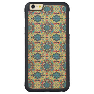 Colorful abstract ethnic floral mandala pattern de carved maple iPhone 6 plus bumper case