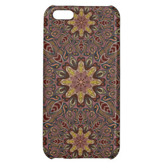 Colorful abstract ethnic floral mandala pattern de case for iPhone 5C