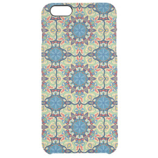 Colorful abstract ethnic floral mandala pattern de clear iPhone 6 plus case
